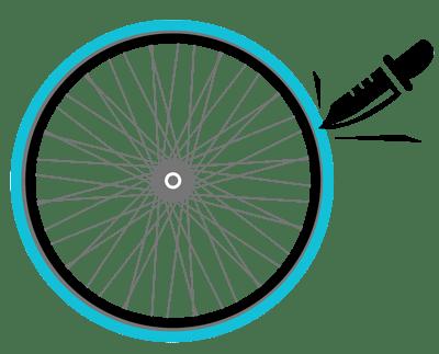 No Flats ever bike share wheels
